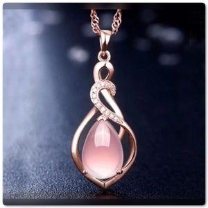 3/$30 Rose Gold Opal CZ Necklace